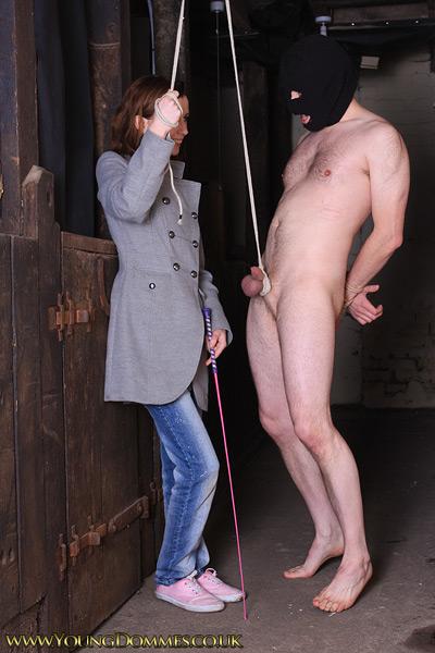 Femdom Cock Leash On Slave
